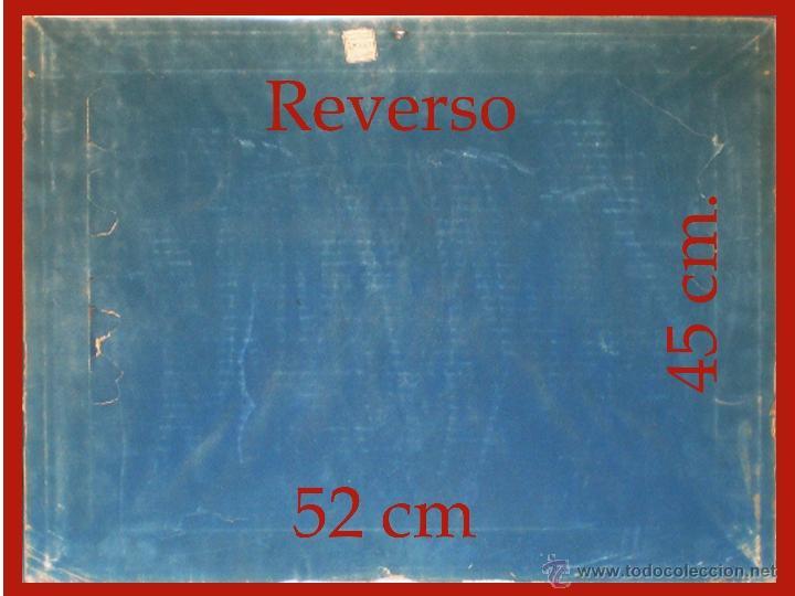 Arte: Reverso del cuadro. y medidas. - Foto 5 - 48327240
