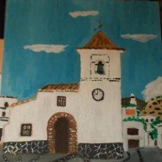 Arte: BERCHULES ,IGLESIS, ALPUJARRA ÓLEO SOBRE TABLA 35X45 CM.AUTOR CRESPO. Lote 48363876