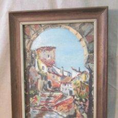 Arte: PAISAJE ORIGINAL FIRMADO OLEO - TABLE. Lote 48411365