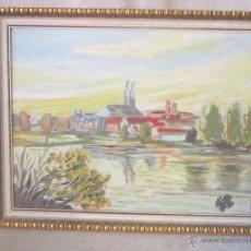 Arte: PAISAJE ORIGINAL ANONIMO OLEO - TABLE. Lote 48411404