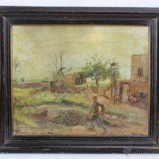 Arte: PINTURA AL ÓLEO ENMARCADA Y CON CRISTAL - VICENTE RINCÓN GARRIDO, FECHADA EN 1947 - MED. 49 X 41 CM. Lote 48444303