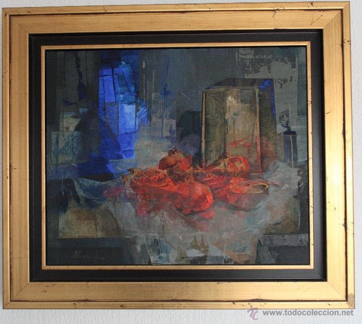 ULTIMO PRECIO: ALFONSO CUÑADO.CAJA Y GRANADAS.38X46 CMS (Arte - Pintura - Pintura al Óleo Contemporánea )