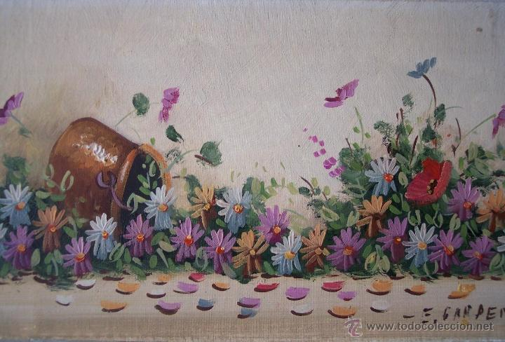 ÓLEO DE JARRO CON FLORES (Arte - Pintura - Pintura al Óleo Contemporánea )