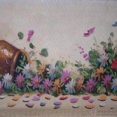 Arte: ÓLEO DE JARRO CON FLORES. Lote 48528233