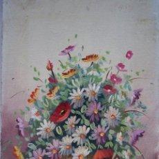 Arte: ÓLEO DE JARRO CON FLORES. Lote 48528238