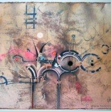 Arte: RAUL UTRILLA - TÉCNICA MIXTA Y COLLAGE 35 X 50 CM - COMPOSICIÓN ABSTRACTA. Lote 48535659