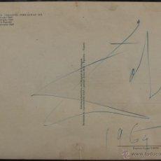 Arte: DALI DIBUJO Y FIRMA EN POSTAL 1964. Lote 48538898