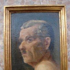 Arte: OLEO SOBRE LIENZO. FIRMADO Y FECHADO M. RODRIGUEZ 1917. RETRATO. Lote 48562036