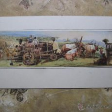 Arte: PRECIOSA ACUARELA ORIGINAL DEL S-XIX - VENDIMIA EN LA TOSCANA (ITALIA). Lote 48567823