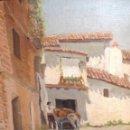 Arte: ANTIGÜO ÓLEO SOBRE CARTÓN FIRMADO F . KONLER Y FECHADO 1.944. Lote 48583082