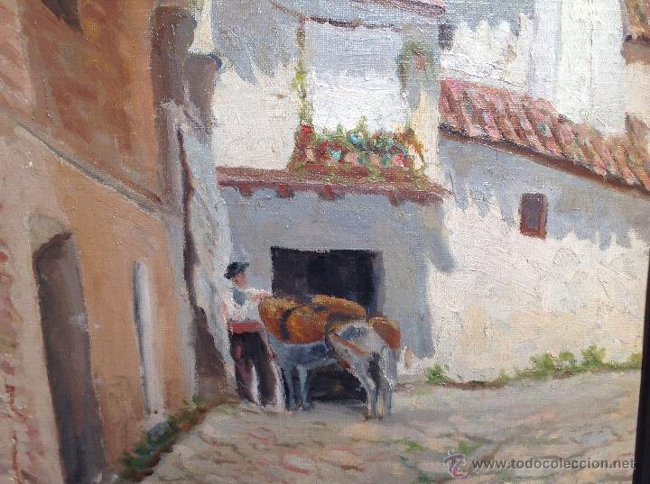 Arte: ANTIGÜO ÓLEO SOBRE CARTÓN FIRMADO F . KONLER Y FECHADO 1.944 - Foto 4 - 48583082