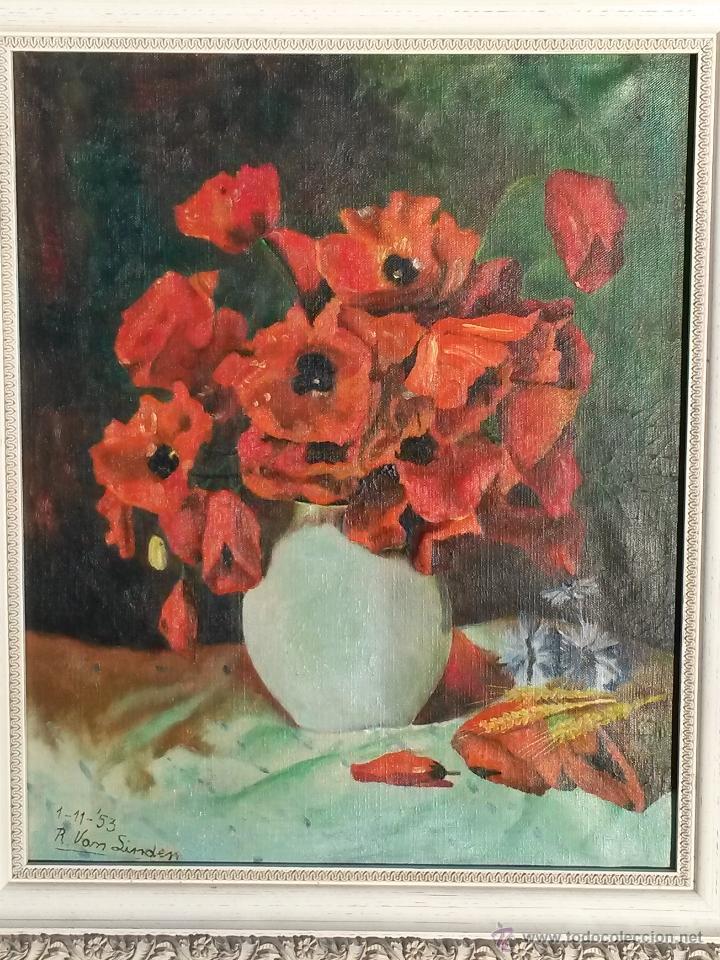 PINTURA AL OLEO SOBRE TELA DE 46 X 38 CMS FIRMA SE PUEDE VER EUROPEA 1953 ,SIN MARCO (Arte - Pintura - Pintura al Óleo Contemporánea )