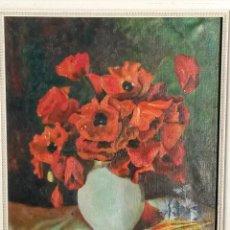 Arte: PINTURA AL OLEO SOBRE TELA DE 46 X 38 CMS FIRMA SE PUEDE VER EUROPEA 1953 ,SIN MARCO. Lote 48590135