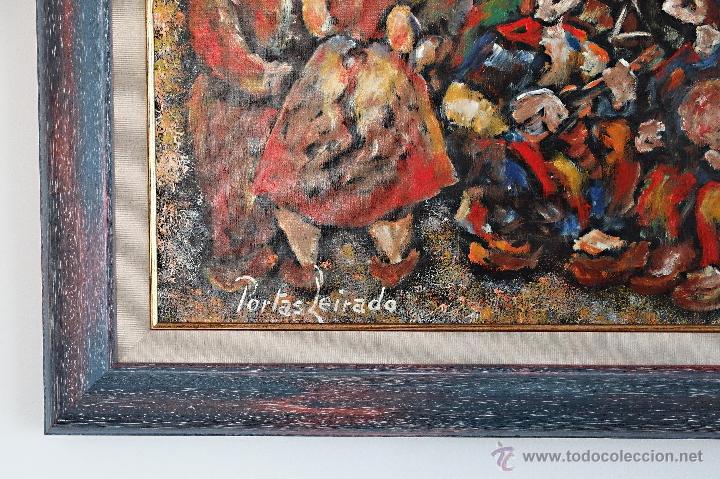 Arte: Constantino Portas Leirado: óleo sobre lienzo 'La fiesta del pavo' - Foto 3 - 46537352