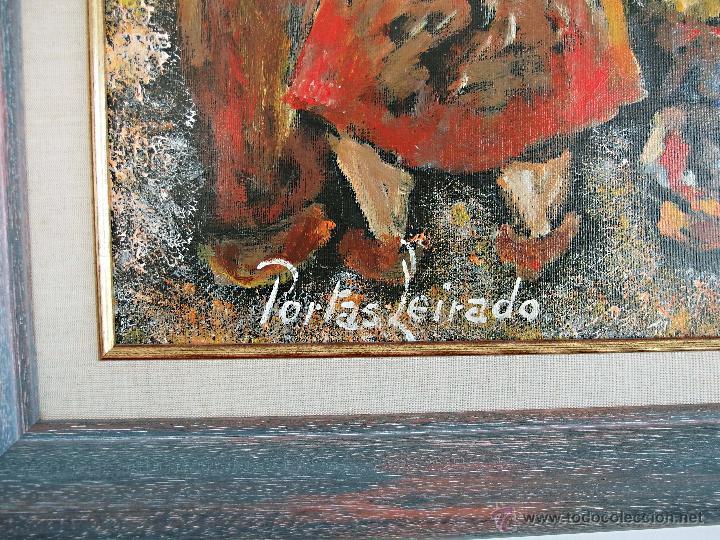 Arte: Constantino Portas Leirado: óleo sobre lienzo 'La fiesta del pavo' - Foto 4 - 46537352