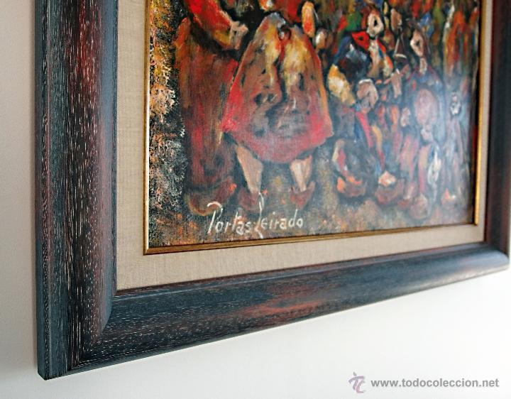Arte: Constantino Portas Leirado: óleo sobre lienzo 'La fiesta del pavo' - Foto 5 - 46537352