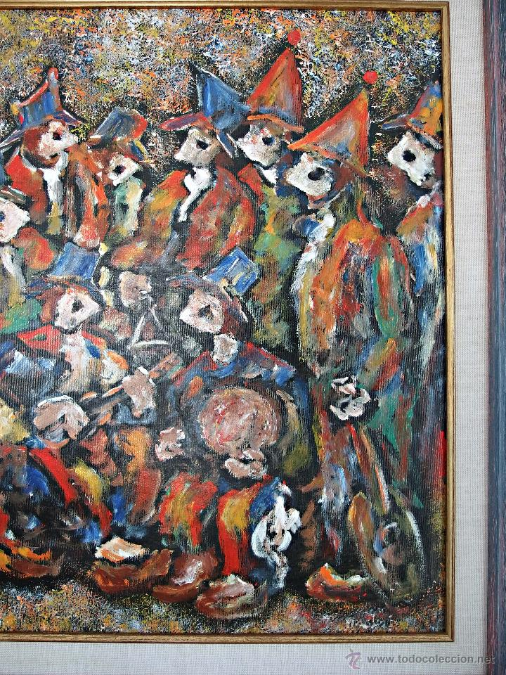 Arte: Constantino Portas Leirado: óleo sobre lienzo 'La fiesta del pavo' - Foto 7 - 46537352