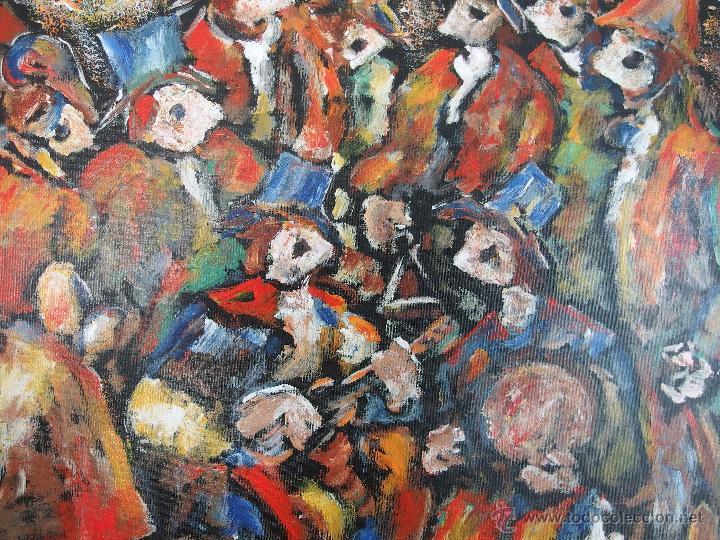 Arte: Constantino Portas Leirado: óleo sobre lienzo 'La fiesta del pavo' - Foto 8 - 46537352
