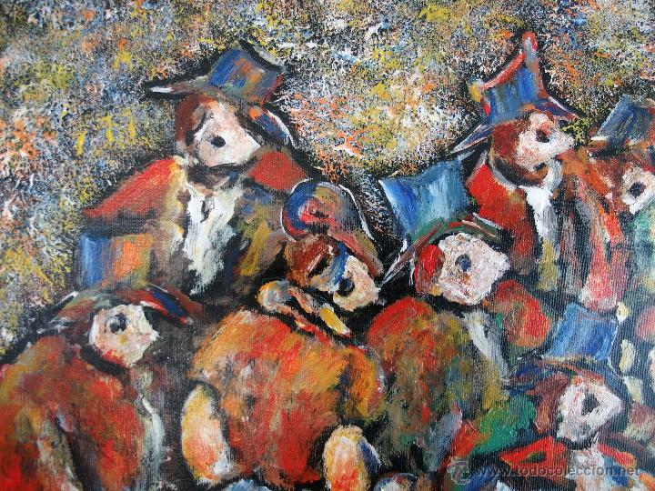 Arte: Constantino Portas Leirado: óleo sobre lienzo 'La fiesta del pavo' - Foto 9 - 46537352