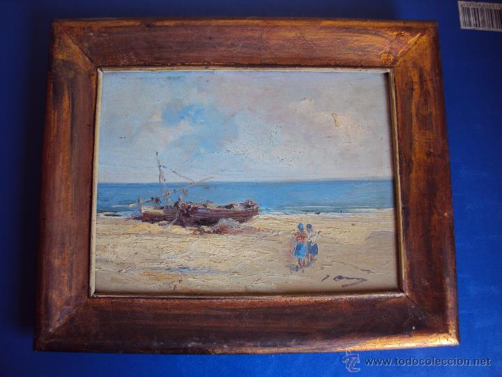 (PI-002)OLEO SOBRE TABLEX,ESCALETA,FIRMADO J.ASENSI,1960´S (Arte - Pintura - Pintura al Óleo Contemporánea )