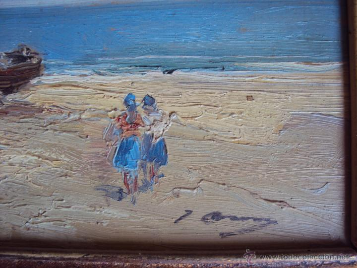 Arte: (PI-002)OLEO SOBRE TABLEX,ESCALETA,FIRMADO J.ASENSI,1960´S - Foto 4 - 48644832
