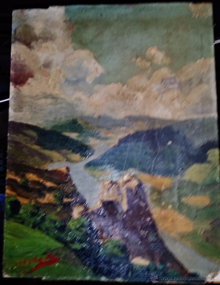 PAISAJE OLEO SOBRE TABLA,FIRMADO (Arte - Pintura - Pintura al Óleo Moderna sin fecha definida)