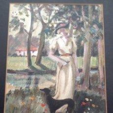 Arte - JOSEFINA CODERCH ÓLEO SOBRE PAPEL MAROUFLE ENMARCADO - 48677863