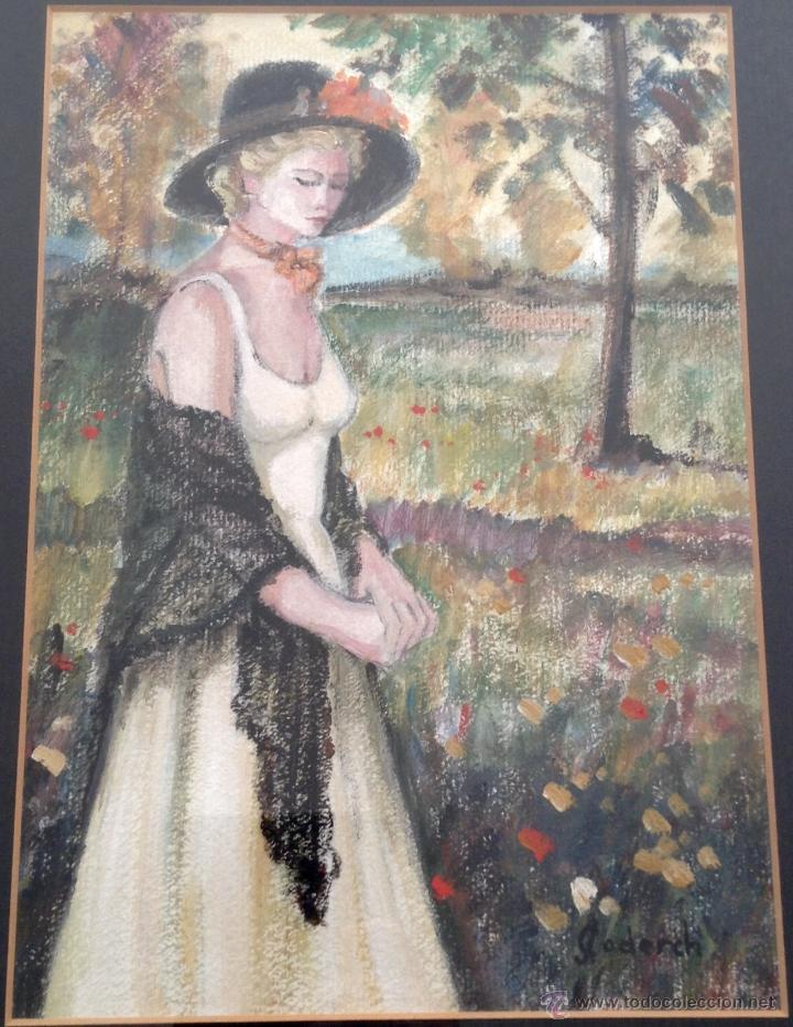 JOSEFINA CODERCH ÓLEO SOBRE PAPEL MAROUFLE ENMARCADO (Arte - Pintura - Pintura al Óleo Contemporánea )