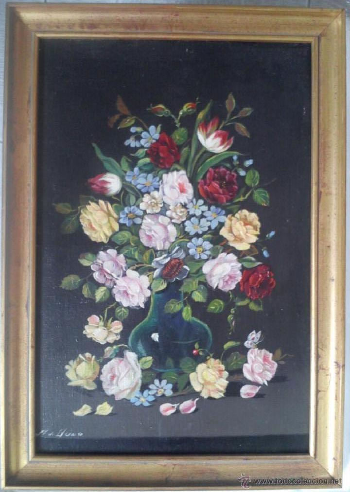 JARRON DE FLORES (Arte - Pintura - Pintura al Óleo Antigua sin fecha definida)