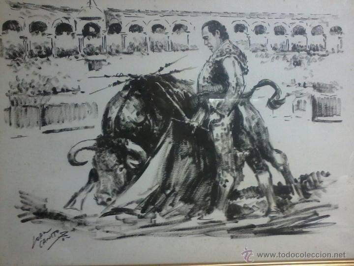 Arte: CURRO ROMERO. POR LOPEZ CANITO. 72x52 SIN MARCO. - Foto 2 - 48705452