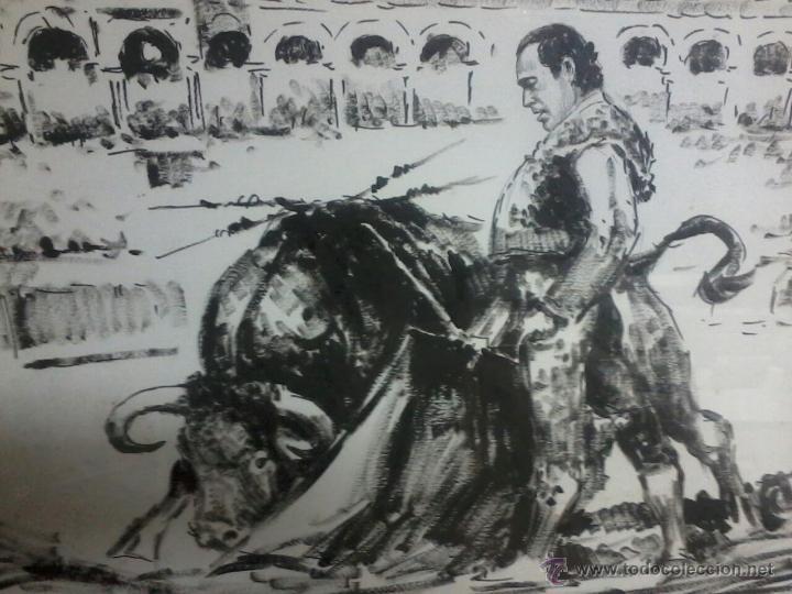 Arte: CURRO ROMERO. POR LOPEZ CANITO. 72x52 SIN MARCO. - Foto 3 - 48705452