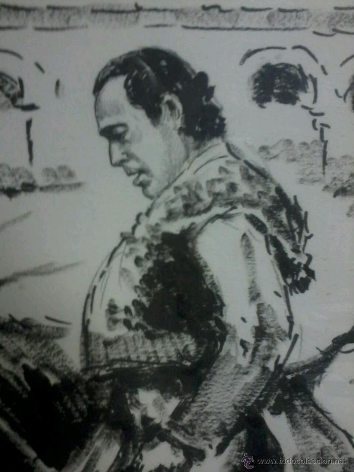 Arte: CURRO ROMERO. POR LOPEZ CANITO. 72x52 SIN MARCO. - Foto 4 - 48705452
