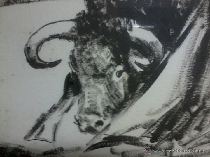 Arte: CURRO ROMERO. POR LOPEZ CANITO. 72x52 SIN MARCO. - Foto 6 - 48705452