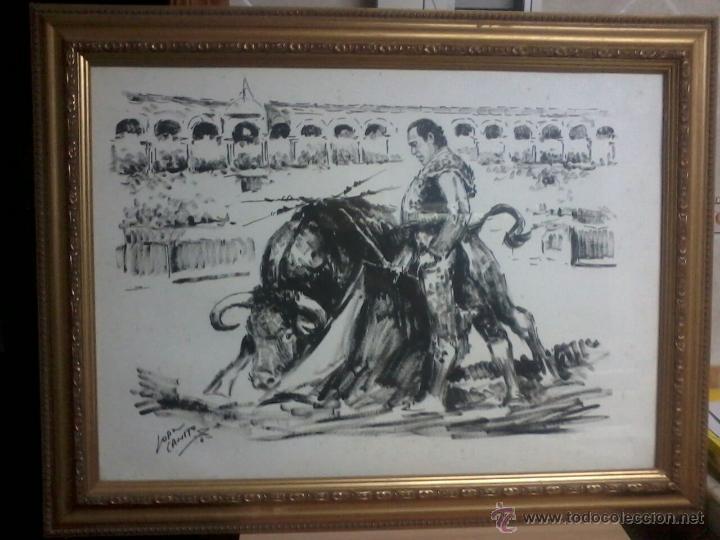 Arte: CURRO ROMERO. POR LOPEZ CANITO. 72x52 SIN MARCO. - Foto 8 - 48705452