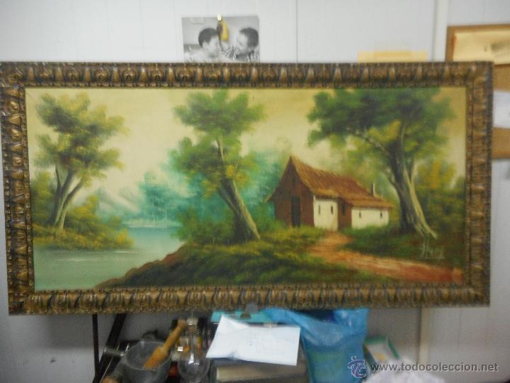 ANTIGUO CUADRO OLEO SOBRE TELA DE GRAN MEDIDA (Arte - Pintura - Pintura al Óleo Moderna sin fecha definida)