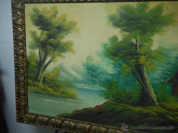 Arte: antiguo cuadro oleo sobre tela de gran medida - Foto 2 - 48719579