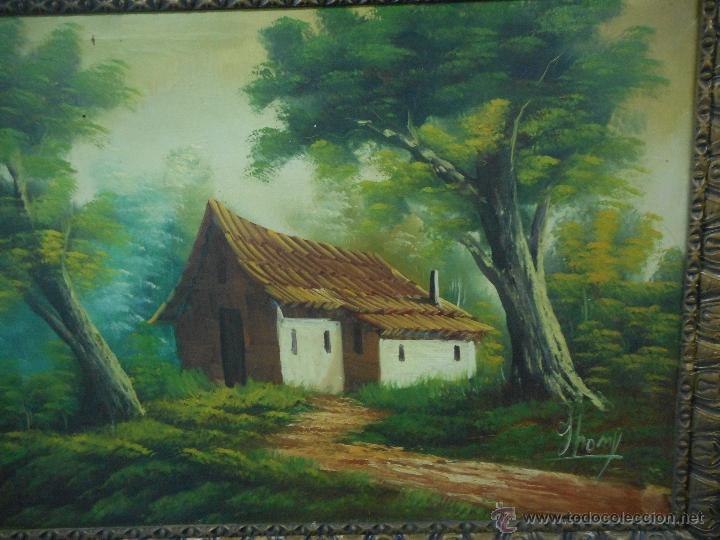 Arte: antiguo cuadro oleo sobre tela de gran medida - Foto 3 - 48719579