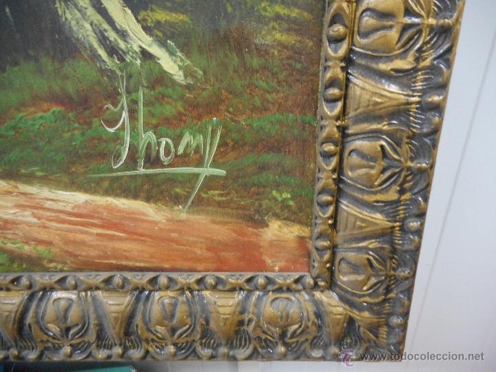 Arte: antiguo cuadro oleo sobre tela de gran medida - Foto 4 - 48719579