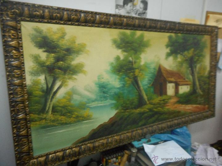 Arte: antiguo cuadro oleo sobre tela de gran medida - Foto 5 - 48719579
