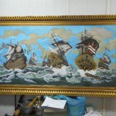 Arte: BESTIAL POR MEDIDAS OLEO SOBRE TELA MARINA, BATALLA NAVAL. Lote 48720560