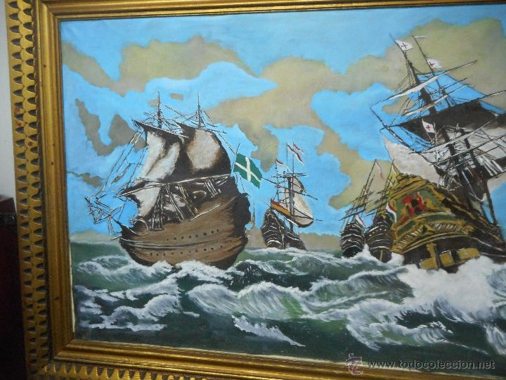 Arte: bestial por medidas oleo sobre tela marina, batalla naval - Foto 2 - 48720560