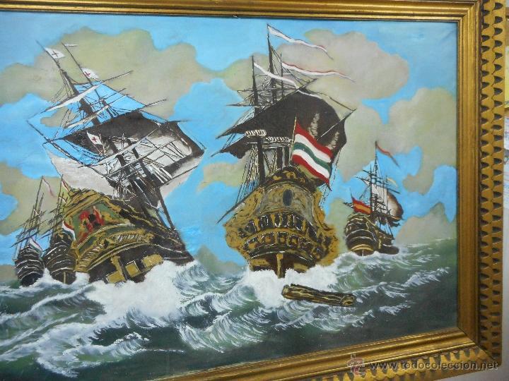 Arte: bestial por medidas oleo sobre tela marina, batalla naval - Foto 3 - 48720560