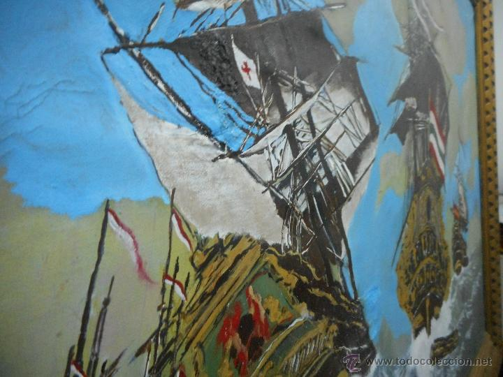 Arte: bestial por medidas oleo sobre tela marina, batalla naval - Foto 4 - 48720560