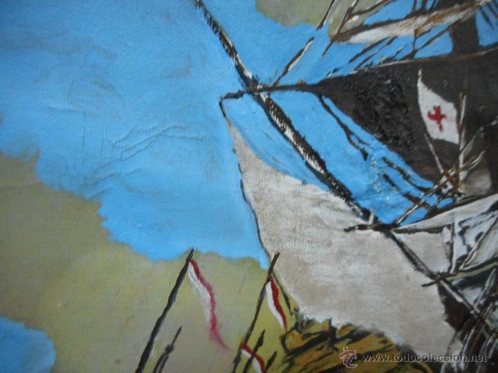 Arte: bestial por medidas oleo sobre tela marina, batalla naval - Foto 6 - 48720560