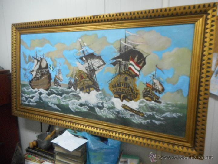 Arte: bestial por medidas oleo sobre tela marina, batalla naval - Foto 7 - 48720560