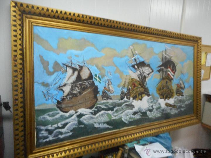 Arte: bestial por medidas oleo sobre tela marina, batalla naval - Foto 8 - 48720560