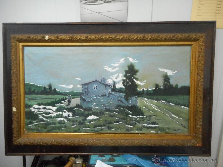 ANTIGUO CUADRO OLEO SOBRE TELA (Arte - Pintura - Pintura al Óleo Antigua sin fecha definida)