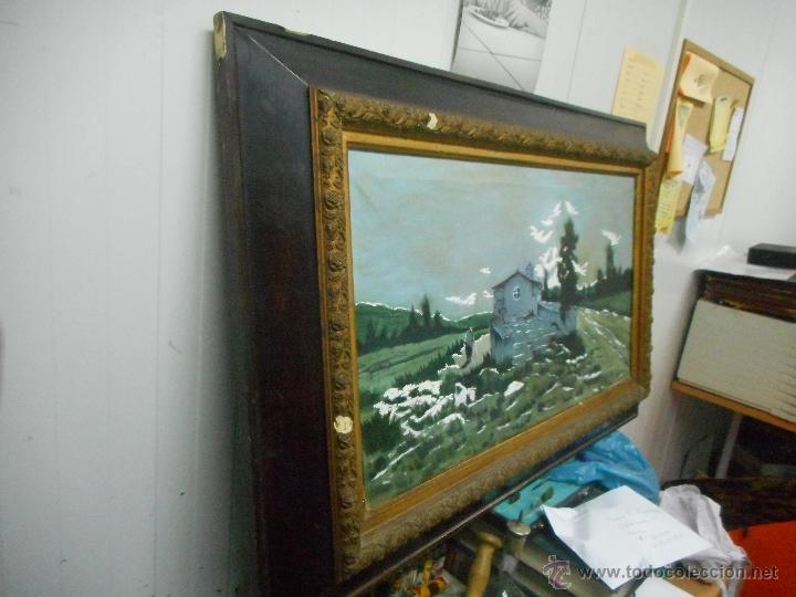 Arte: antiguo cuadro oleo sobre tela - Foto 2 - 48722634