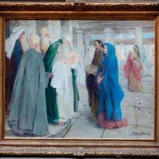 Arte: MAS I FONDEVILA (1852-1934) LA PRESENTACIÓN DE JESÚS, ÓLEO SOBRE TELA, MARCO: 116X98 CM.. Lote 48731844