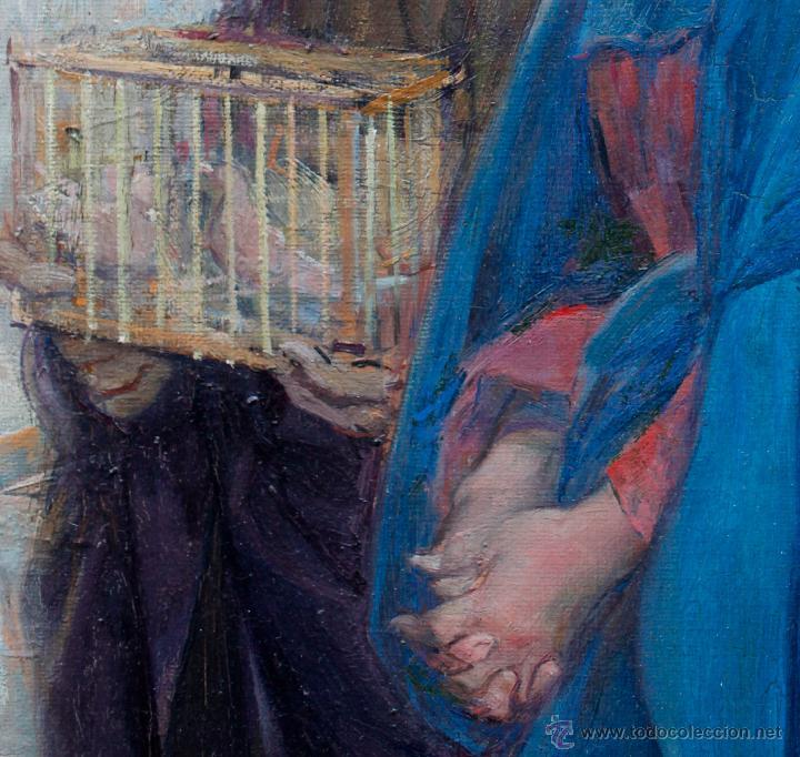 Arte: Mas i fondevila (1852-1934) La presentación de Jesús, óleo sobre tela, marco: 116x98 cm. - Foto 3 - 48731844